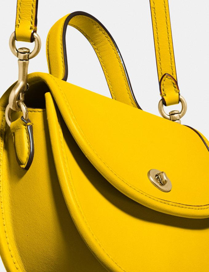 Coach Mini Top Handle Saddle Bag B4/Lemon New Featured Coach Pride Collection Alternate View 4