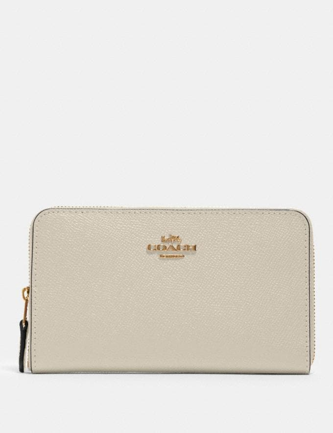 Coach Medium Zip Around Wallet Im/Chalk