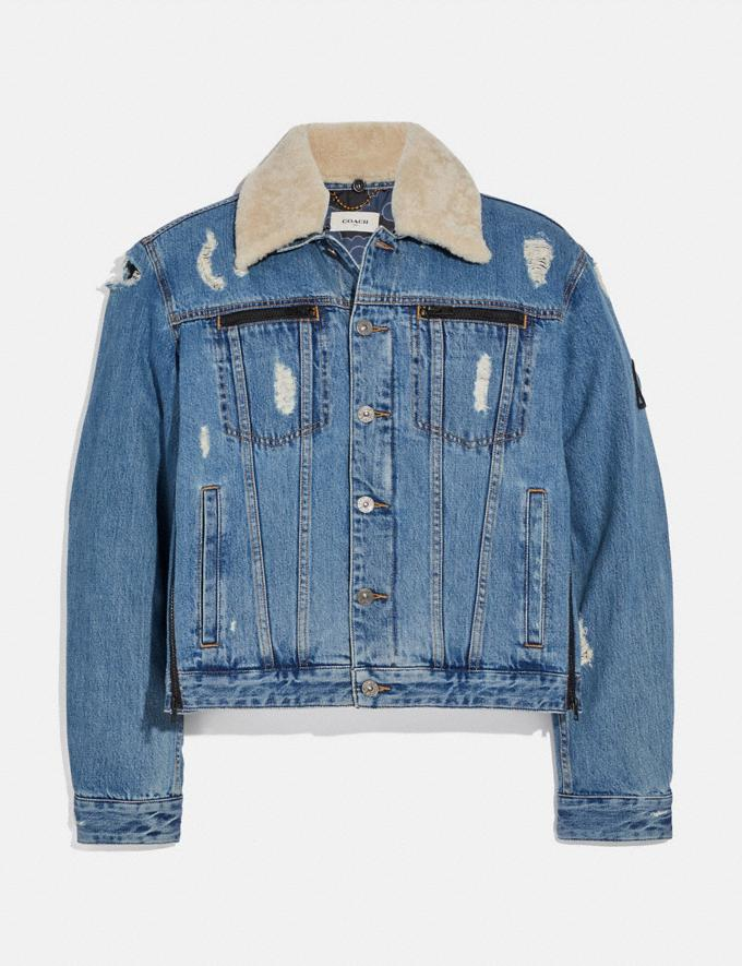Coach Coach X Michael B. Jordan Denim Jacket Indigo DEFAULT_CATEGORY