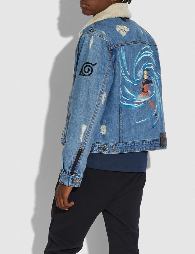 Coach Coach X Michael B. Jordan Denim Jacket Indigo DEFAULT_CATEGORY Alternate View 2