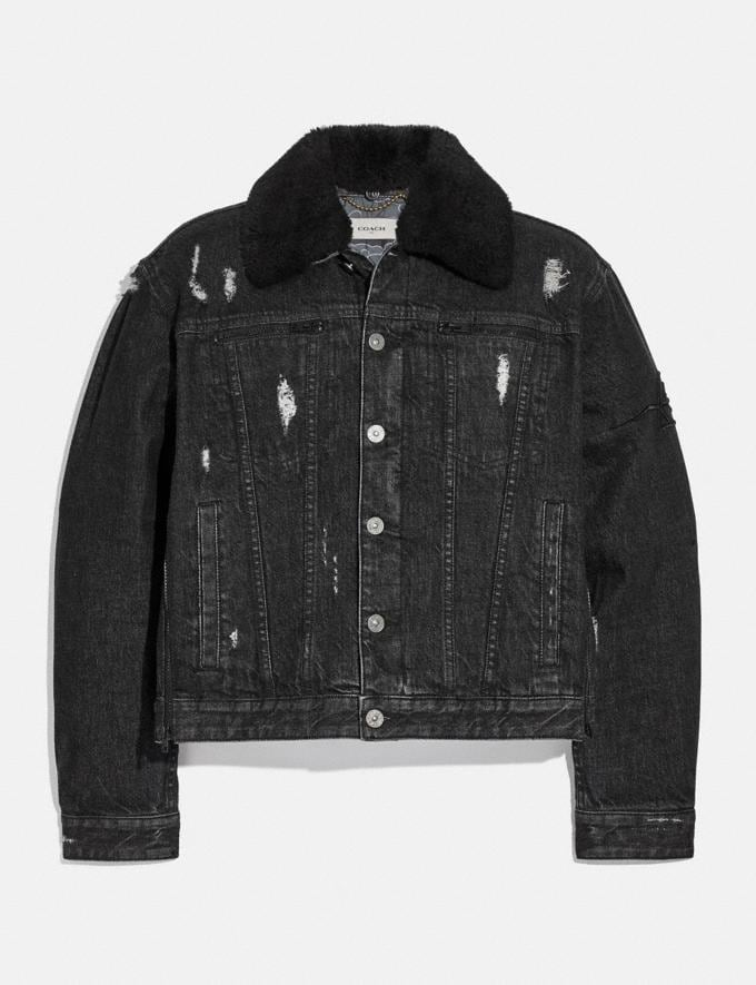 Coach Coach X Michael B. Jordan Denim Jacket Black SALE Men's Sale