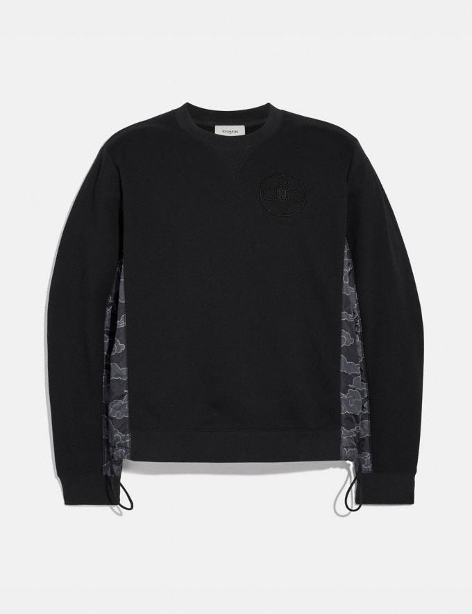 Coach Coach X Michael B. Jordan Nylon Sweatshirt Black Men Ready-to-Wear Tops & Bottoms