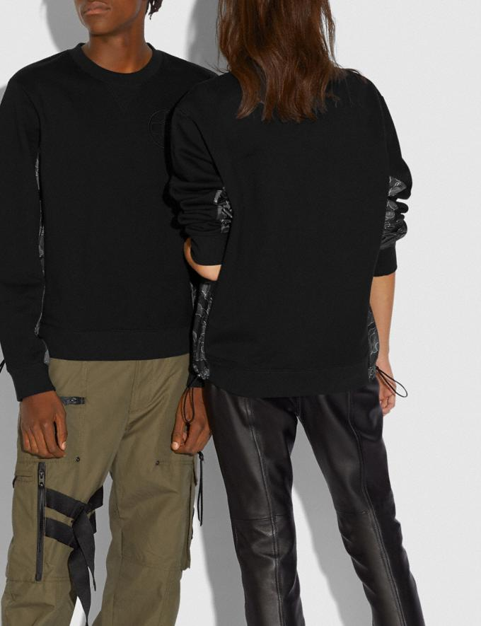Coach Coach X Michael B. Jordan Nylon Sweatshirt Black Men Ready-to-Wear Tops & Bottoms Alternate View 1