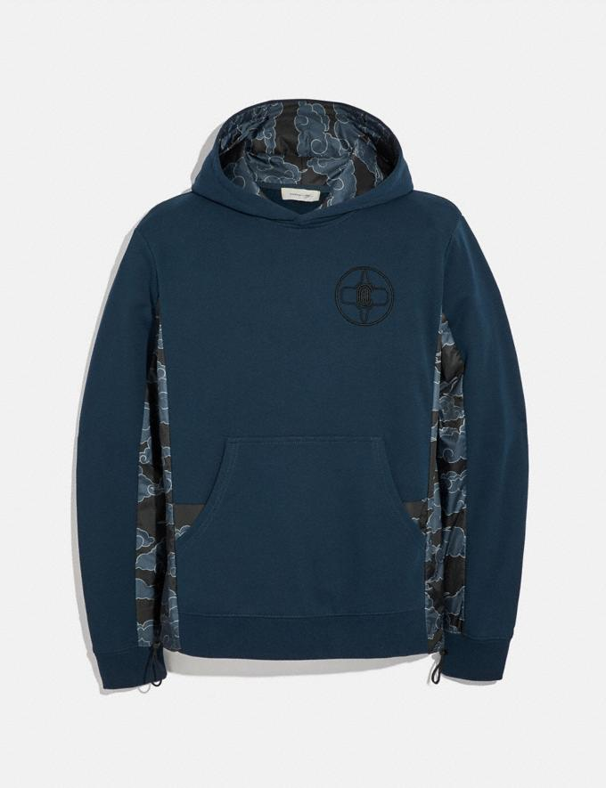 Coach Coach X Michael B. Jordan Nylon Hoodie Ninjutsu Blue Men Ready-to-Wear Tops & Bottoms