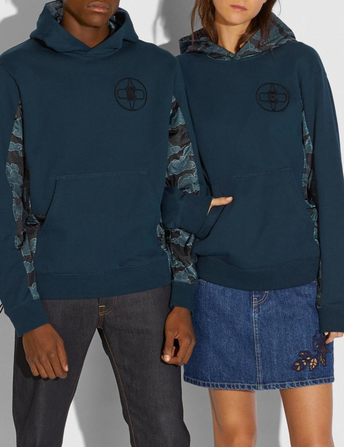 Coach Coach X Michael B. Jordan Nylon Hoodie Ninjutsu Blue Men Ready-to-Wear Tops & Bottoms Alternate View 1