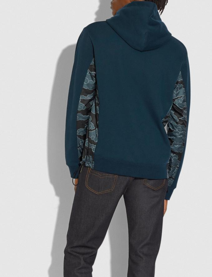 Coach Coach X Michael B. Jordan Nylon Hoodie Ninjutsu Blue Men Ready-to-Wear Tops & Bottoms Alternate View 2