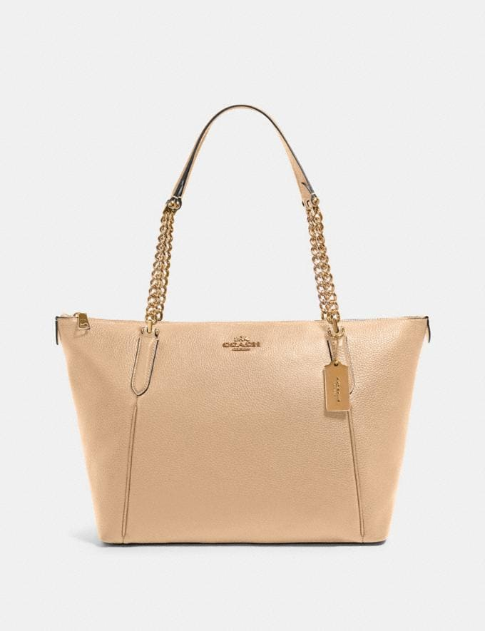 Coach Ava Chain Tote Im/Taupe What's New