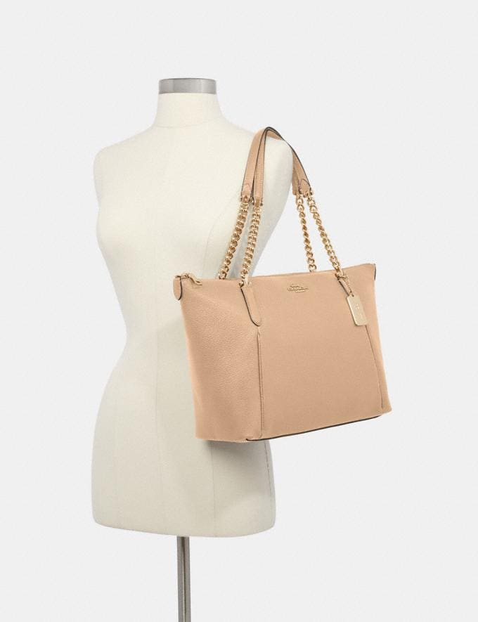 Coach Ava Chain Tote Im/Taupe What's New Alternate View 2