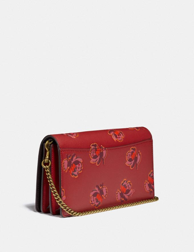Coach Callie Foldover Chain Clutch With Floral Print Brass/Red Apple Floral Print  Alternate View 1