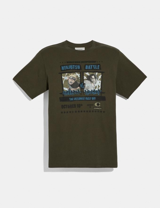 Coach Coach X Michael B. Jordan T-Shirt Ninjutsu Military Green Men Ready-to-Wear Tops & Bottoms