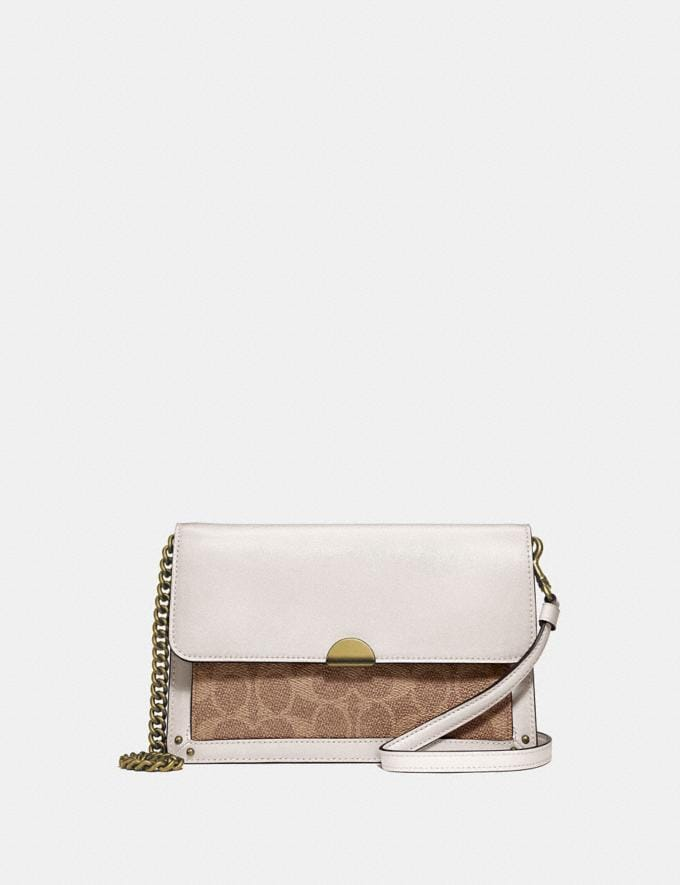Coach Dreamer Convertible Crossbody in Colorblock Signature Canvas Brass/Tan Chalk Gifts For Her Under $300