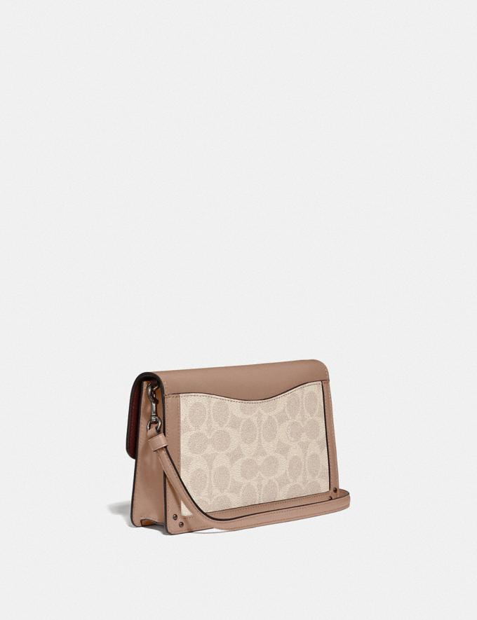 Coach Dreamer Convertible Crossbody in Colorblock Signature Canvas Light Nickel/Sand Taupe Women Handbags Alternate View 1