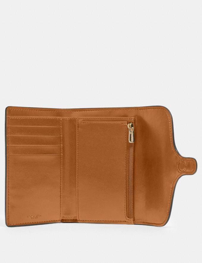 Coach Jade Medium Envelope Wallet in Signature Canvas Im/Khaki/Chalk Accessories Wallets Alternate View 1