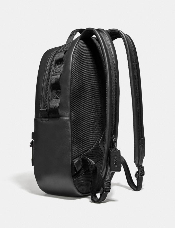 Coach Pacer Backpack in Signature Canvas With Coach Patch Black Copper/Charcoal New Men's New Arrivals Bags Alternate View 1