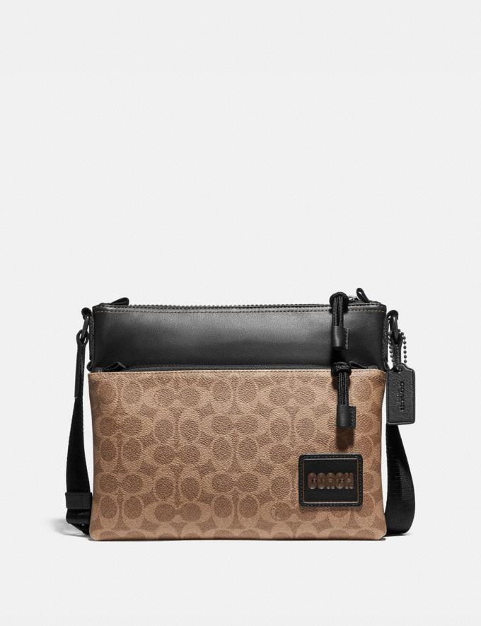 Coach Pacer Crossbody in Signature Canvas With Coach Patch Black Copper/Khaki SALE null null Limited-Time Deals