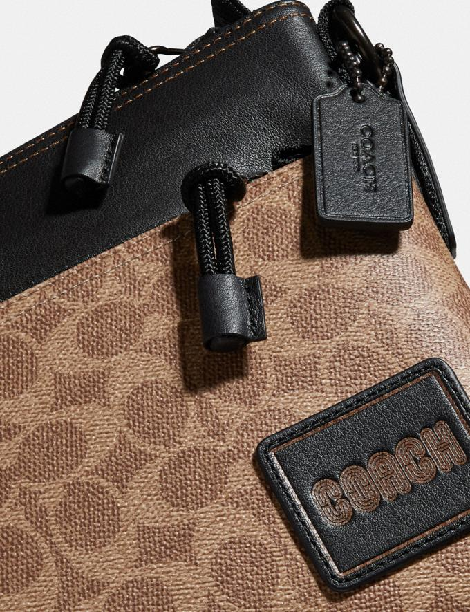 Coach Pacer Crossbody in Signature Canvas With Coach Patch Black Copper/Khaki SALE null null Limited-Time Deals Alternate View 4