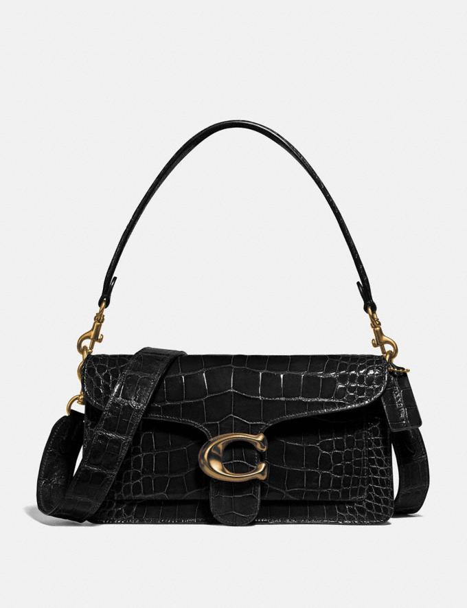 Coach Tabby Shoulder Bag 26 in Alligator Brass/Black Women Handbags Shoulder Bags & Hobos