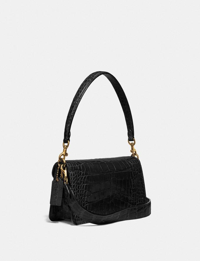 Coach Tabby Shoulder Bag 26 in Alligator Brass/Black Women Handbags Shoulder Bags & Hobos Alternate View 1