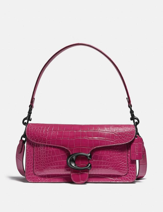 Coach Tabby Shoulder Bag 26 in Alligator Pewter/Violet Women Handbags Shoulder Bags & Hobos