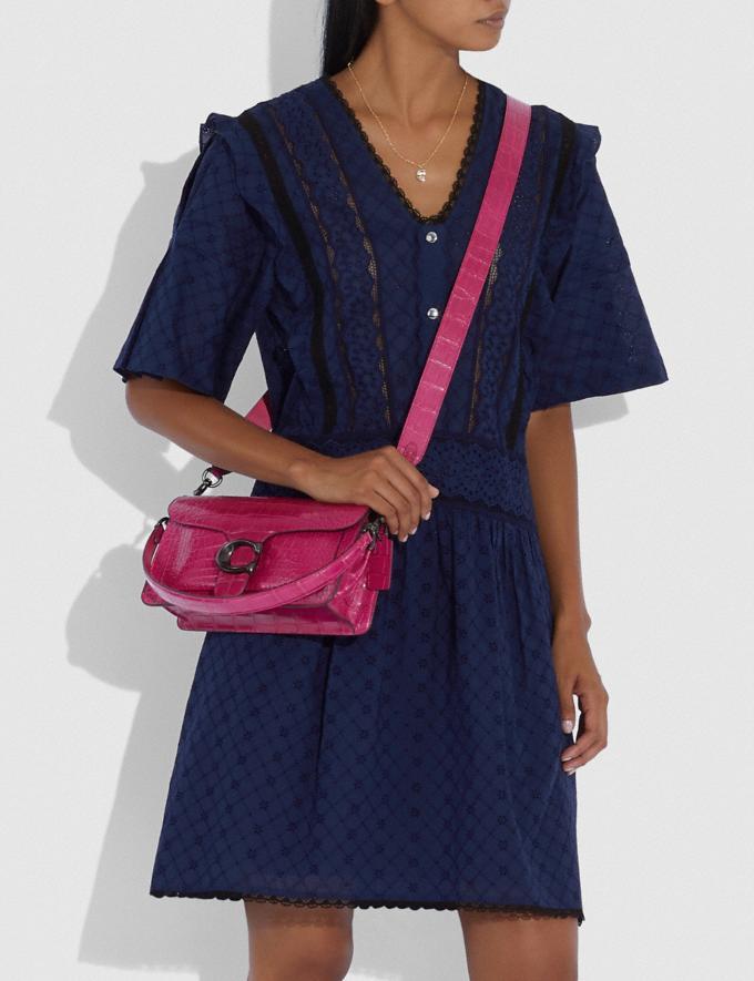 Coach Tabby Shoulder Bag 26 in Alligator Pewter/Violet Women Handbags Shoulder Bags & Hobos Alternate View 3