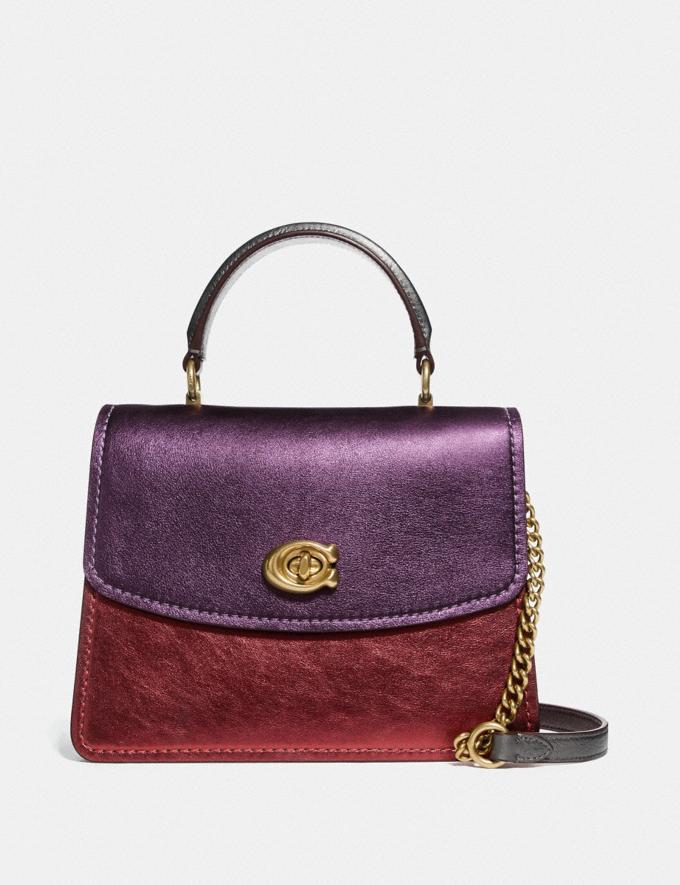 Coach Parker Top Handle in Colorblock B4/Multi Women Bags Satchels