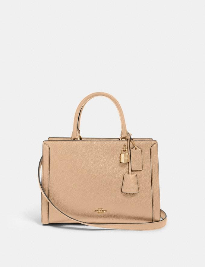 Coach Zoe Carryall Im/Taupe Women Business Essentials
