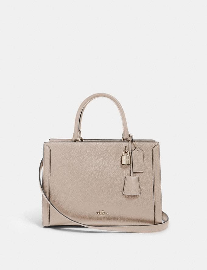 Coach Zoe Carryall Sv/Grey Birch Women Business Essentials