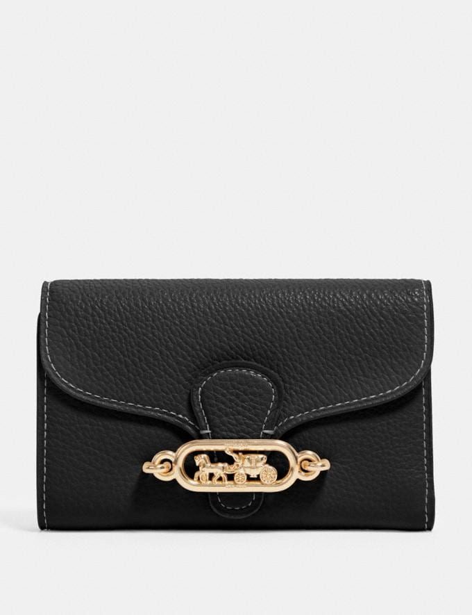 Coach Jade Medium Envelope Wallet Im/Black