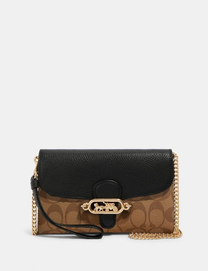 Coach Jade Chain Crossbody in Signature Canvas Im/Khaki/Black Deals Holiday Preview: 70% Off