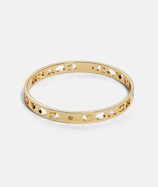 PIERCED SIGNATURE BANGLE