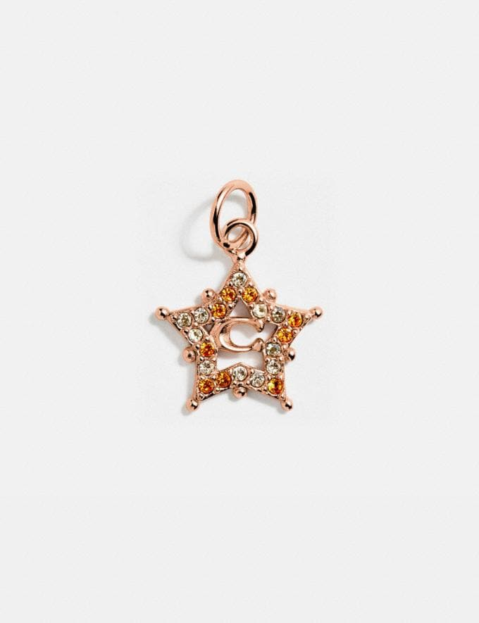 Coach Collectible Star Signature Charm Rose Gold Gifts For Her Under $100