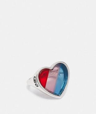 RAINBOW HEART STONE RING