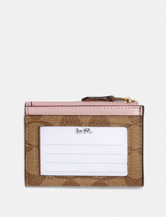 Coach Mini Skinny Id Case in Signature Canvas Im/Khaki Blossom  Alternate View 1