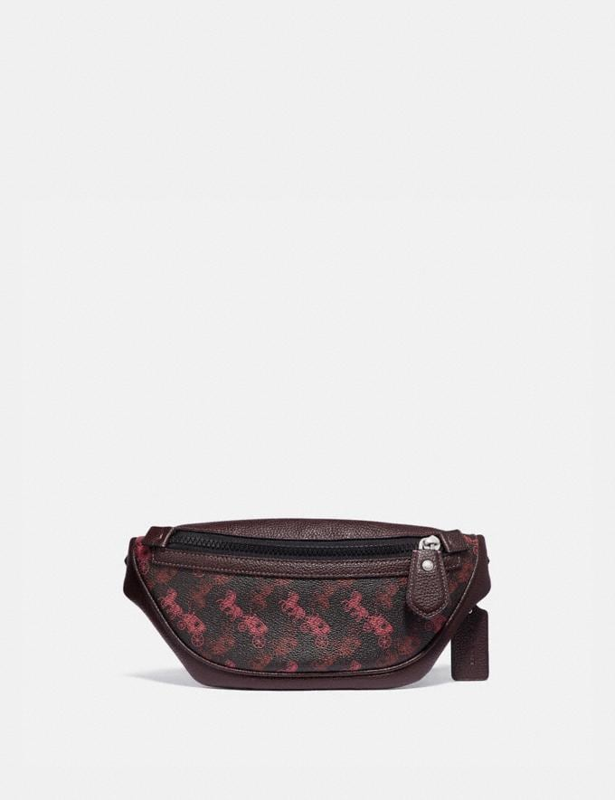 Coach Rivington Belt Bag 7 With Horse and Carriage Print Light Nickel/Black Red New Men's New Arrivals Collection