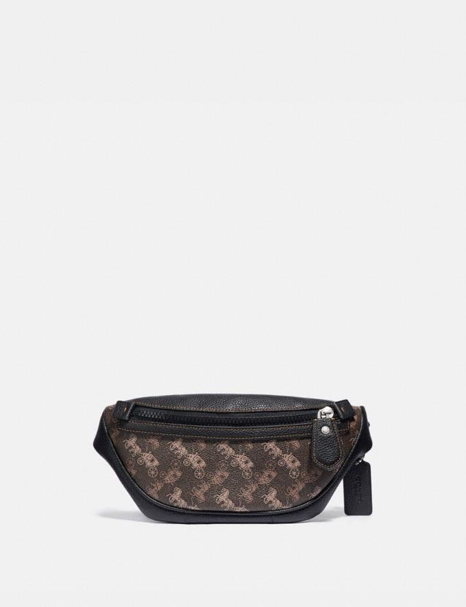 Coach Rivington Belt Bag 7 With Horse and Carriage Print Light Nickel/Black Brown New Women's New Arrivals Collection