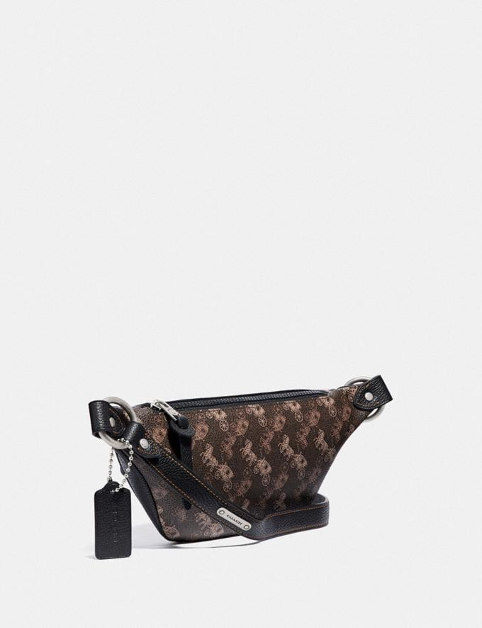 Coach Rivington Belt Bag 7 With Horse and Carriage Print Light Nickel/Black Brown New Women's New Arrivals Collection Alternate View 1