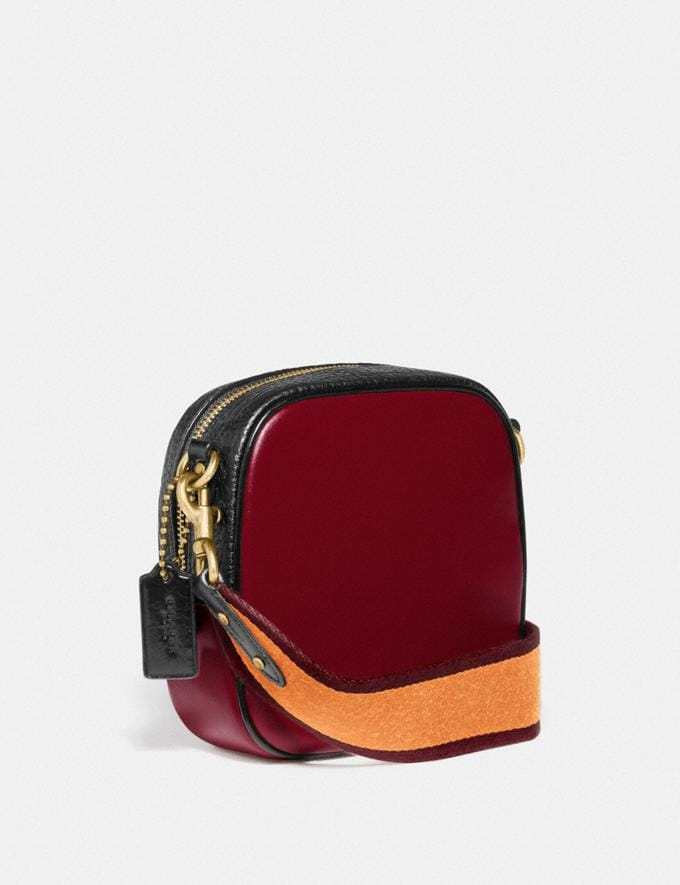 Coach Kat Camera Bag in Colorblock Brass/Deep Red Multi New Women's New Arrivals Alternate View 1