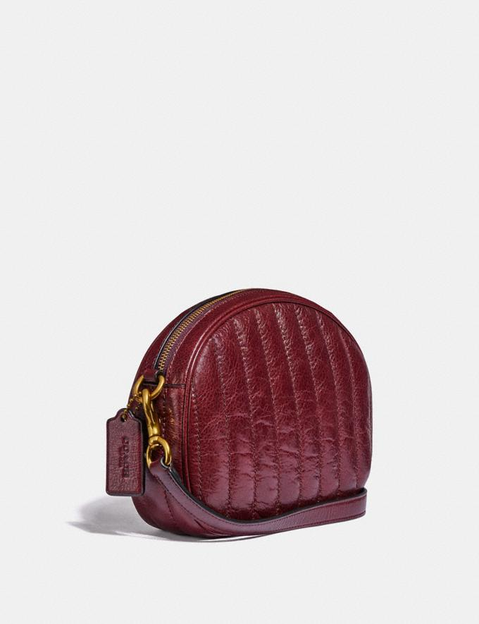 Coach Kat Crossbody With Quilting Brass/Cranberry  Alternate View 1