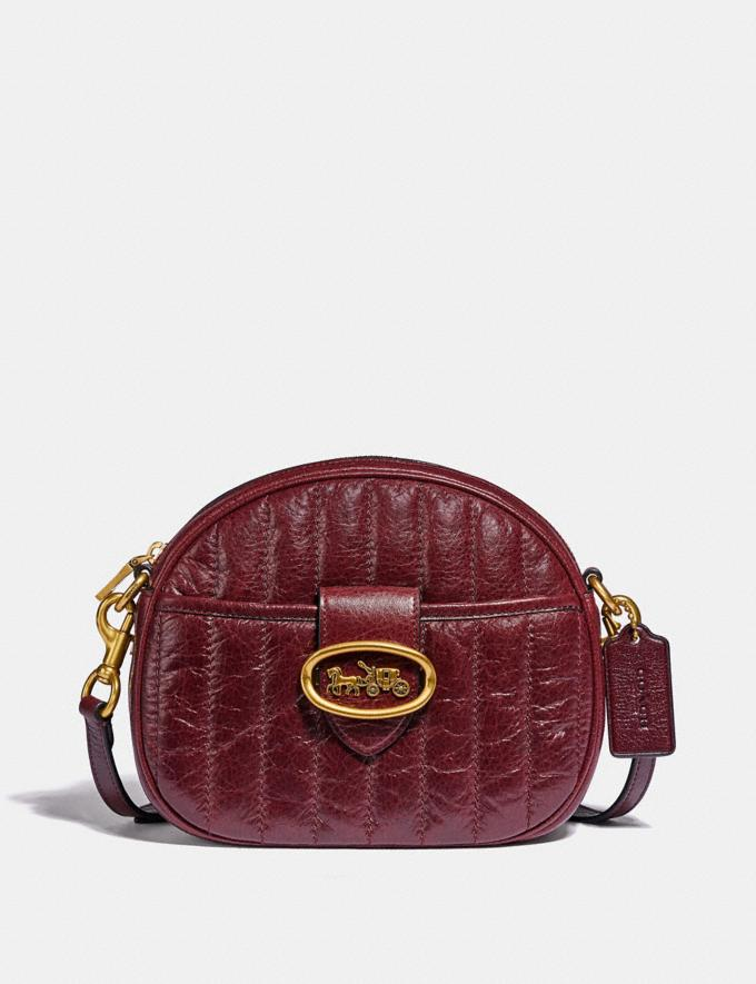 Coach Kat Crossbody With Quilting Brass/Cranberry