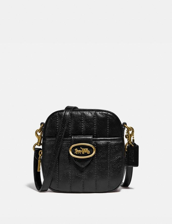 Coach Kat Camera Bag With Quilting B4/Black Women Handbags Crossbody Bags