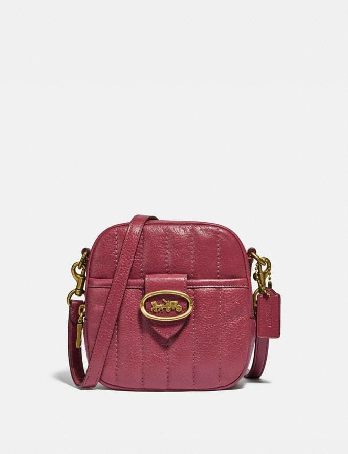 Coach Kat Camera Bag With Quilting Brass/Dusty Pink New Women's New Arrivals Collection