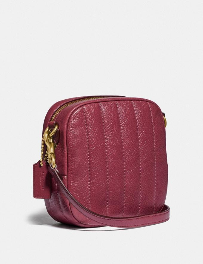 Coach Kat Camera Bag With Quilting Brass/Dusty Pink New Women's New Arrivals Collection Alternate View 1
