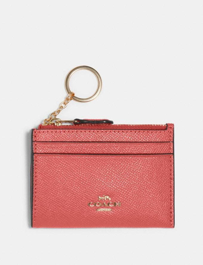 Coach Mini Skinny Id Case Im/Bright Coral