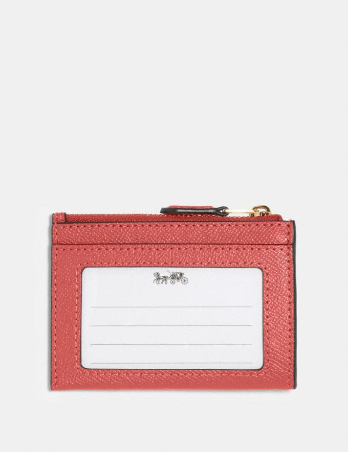 Coach Mini Skinny Id Case Im/Bright Coral  Alternate View 1