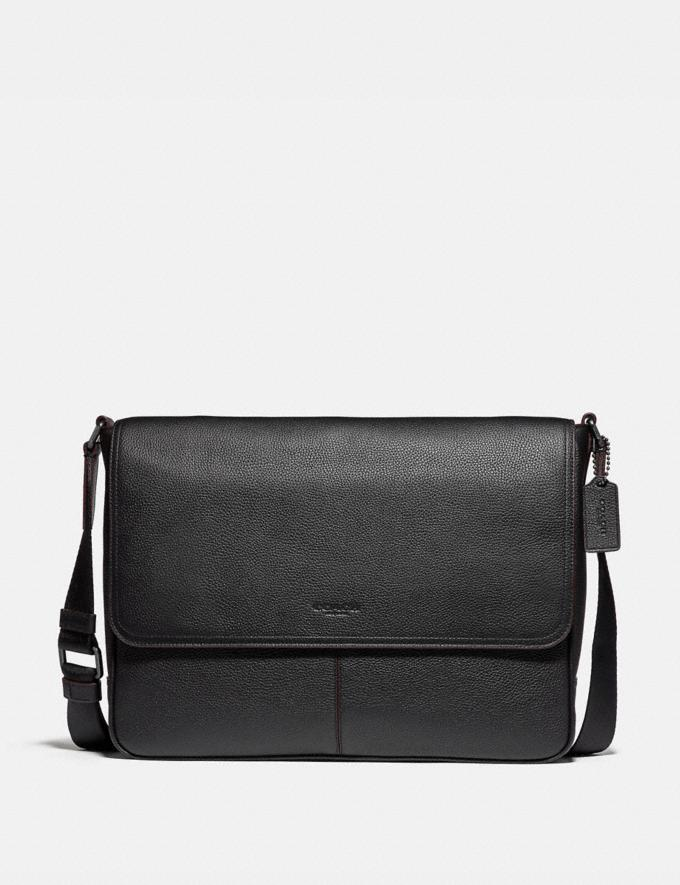 Coach Metropolitan Soft Courier Black Antique Nickel/Black New Men's New Arrivals Bags