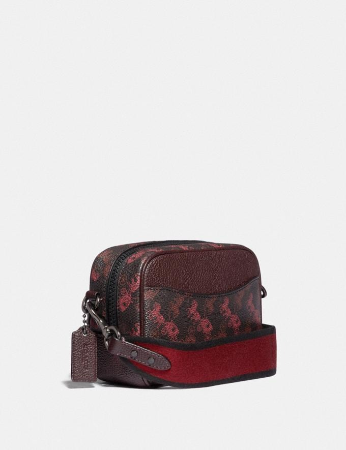 Coach Camera Bag 16 With Horse and Carriage Print and Heart Pewter/Black Oxblood  Alternate View 1