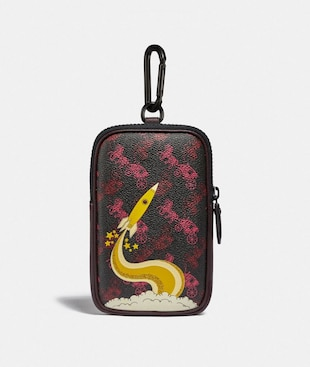 HYBRID POUCH 10 WITH HORSE AND CARRIAGE PRINT AND ROCKET