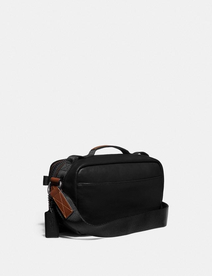 Coach Pacer Top Handle Crossbody With Coach Patch Black Copper/Black Men Edits Work Alternate View 1