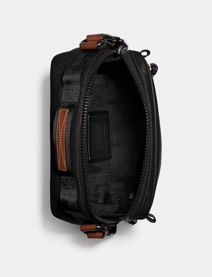 Coach Pacer Top Handle Crossbody With Coach Patch Black Copper/Black Men Edits Work Alternate View 2