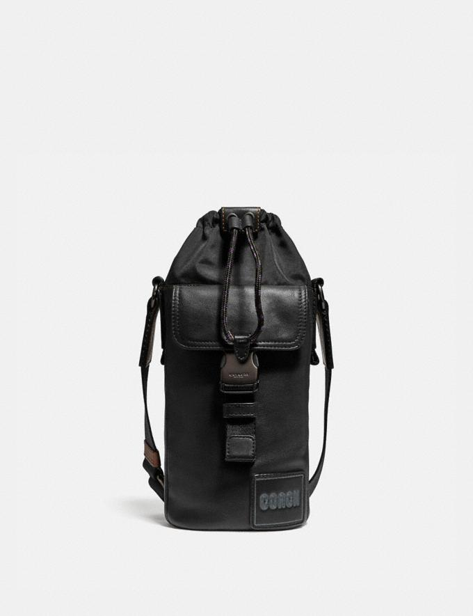 Coach Pacer Drawstring Crossbody With Coach Patch Black Copper/Black New Men's New Arrivals Bags